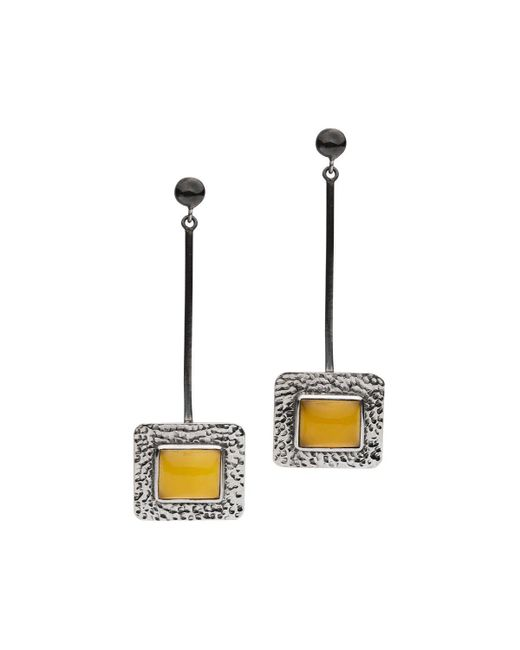 Donatella Balsamo - Metallic Sardinia Costa Long Earrings - Lyst