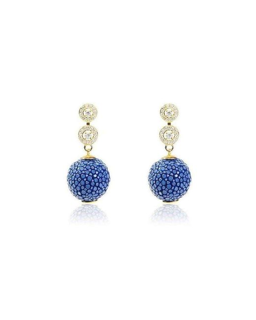 Latelita London Stingray Ball Earring Royal Blue NJBX68CAj