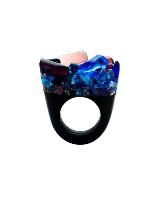 Pasionae Murano Ring - B&W - Delight - UK N - US 6 1/2 - EU 54 Z30HfUCAYH