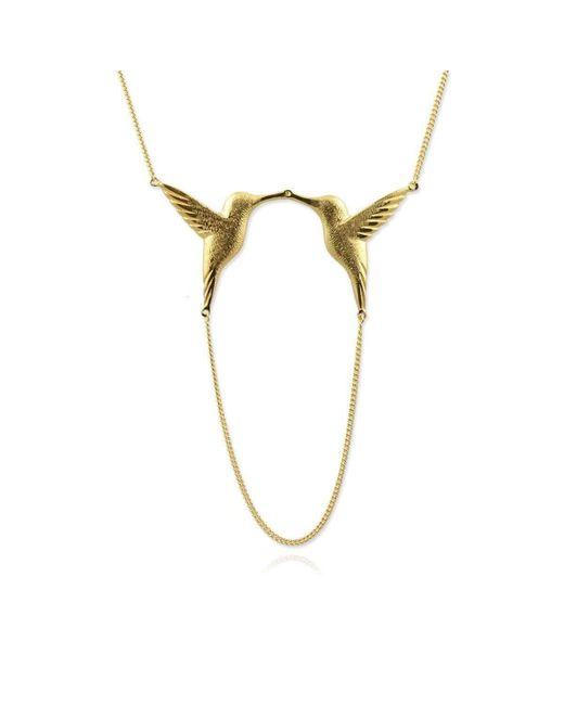 Jana Reinhardt Jewellery - Metallic Golden Twin Hummingbird Necklace - Lyst