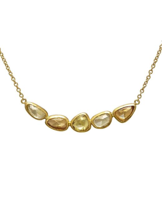 Gurhan - Metallic 24kt Yellow Gold Elements Necklace With Fancy Sapphire - Lyst