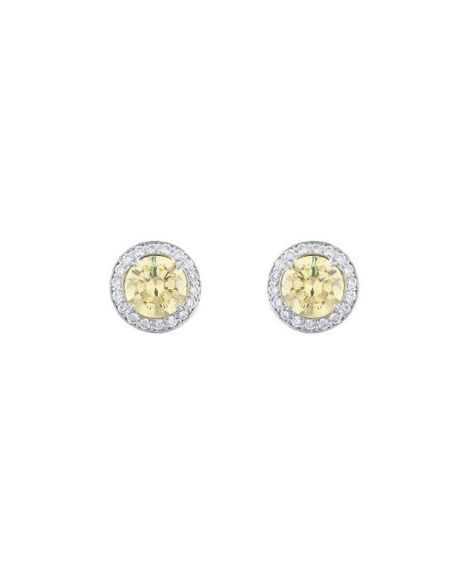 Fantasia by Deserio - Metallic 18kt White Gold Antique Canary Stud Earrings - Lyst