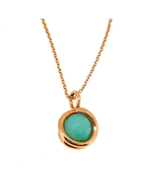 Maree London - Metallic Rose Gold Aqua Jade Necklace - Lyst