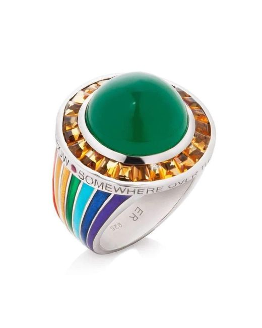 Elizabeth Raine - Green Somewhere Over The Rainbow Ring - Lyst