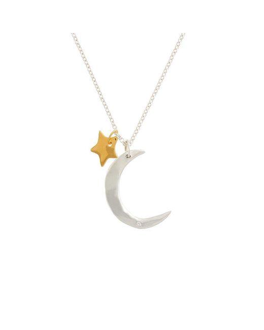Deborah Blyth Jewellery - Metallic Moon And Star Necklace - Lyst