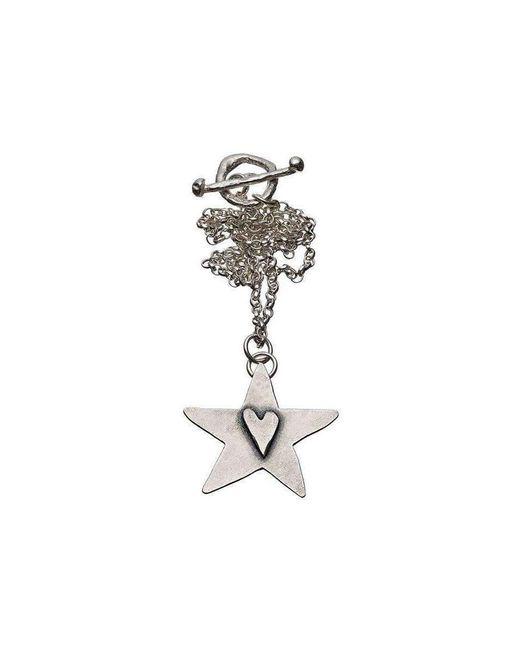 Kate Chell Jewellery | Metallic Black Heart Hammered Star Pendant | Lyst