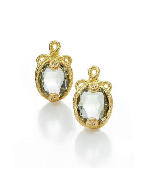Brigitte Adolph Jewellery Design - Metallic Baby Undine Yellow Gold Earrings - Lyst