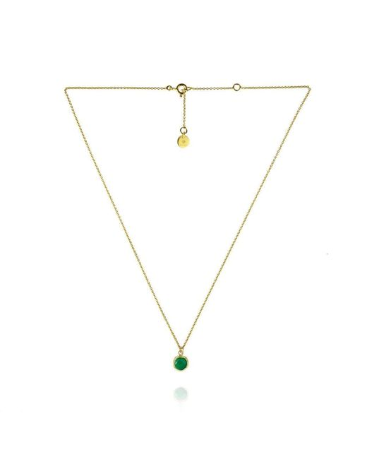 Zefyr Dosha Necklace Gold With Green Onyx Jwzwj