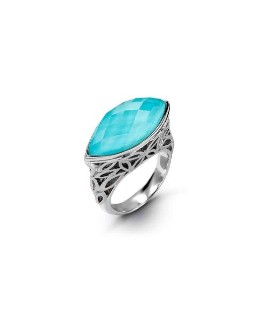 HERA - Blue Mini Marquis Turquoise Ring - Lyst