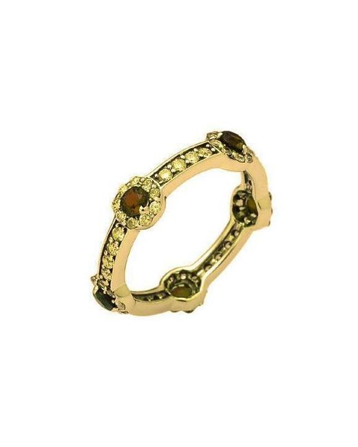 H.Azeem - Multicolor Smoky Quartz Gold Stacking Ring - Lyst