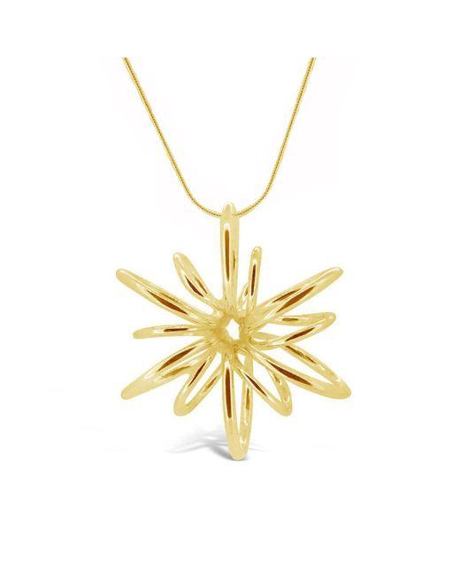 Maree London - Metallic Gold Small Lotus Necklace - Lyst