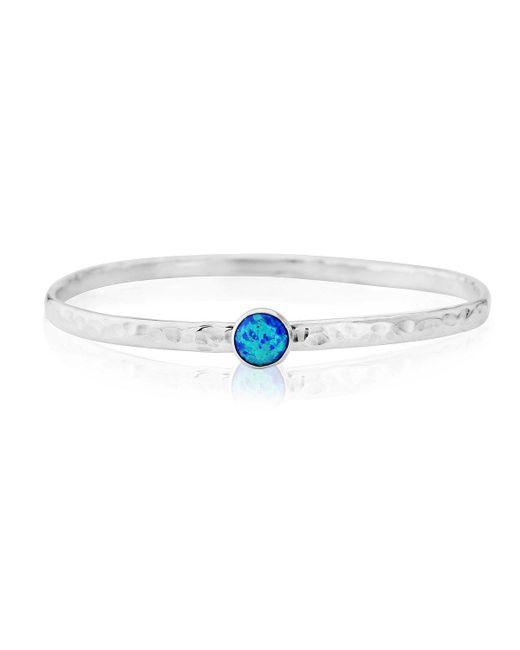 Lavan - Blue Sterling Silver Opal Bangle - Lyst