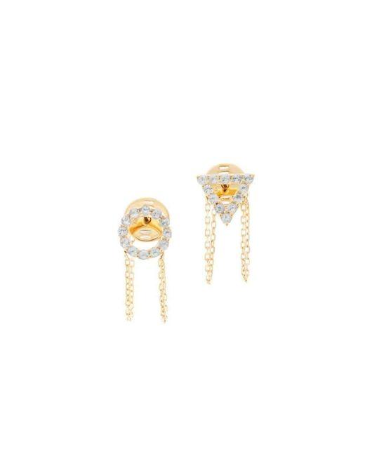 Eshvi - Metallic March Aquamarine Earrings - Lyst