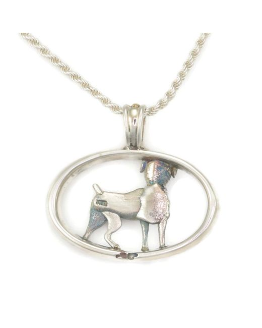 Donna Pizarro Designs Sterling Boxer Necklace With 14kt Accent 87HIL1LSM