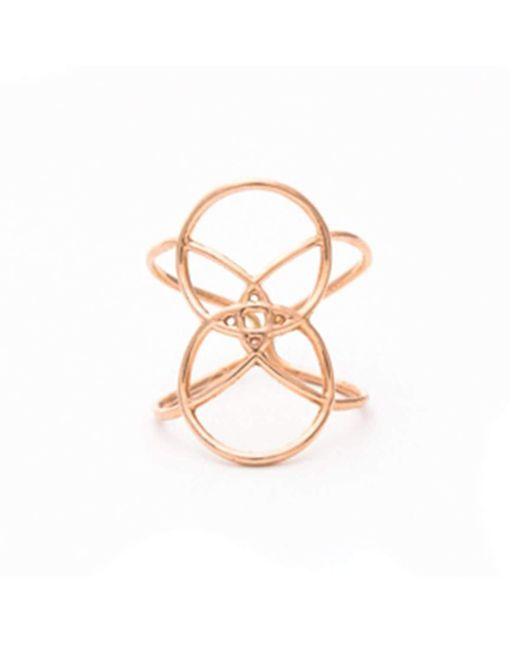 Uma K - Multicolor Infinity Circle Ring - Rose Gold - Lyst