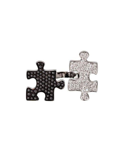 Akillis Puzzle Toi & Moi White Gold With Diamonds S Ring - UK K 1/2 - US 5 3/8 - EU 51 iNSu9lrrEE