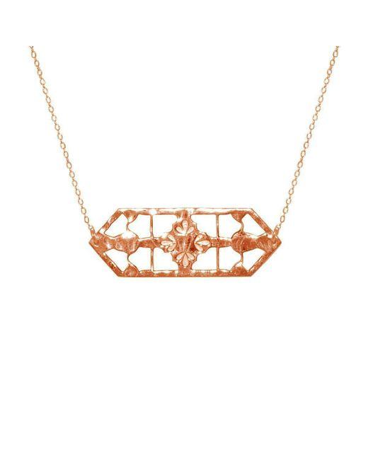 Murkani Jewellery - Metallic Rose Gold Vintage Treasure Necklace - Lyst