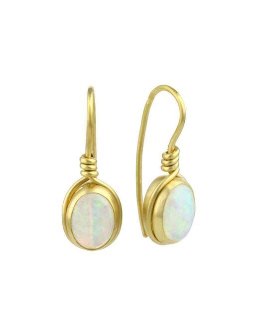 Prism Design - Metallic 9kt Gold Opal Earrings - Lyst