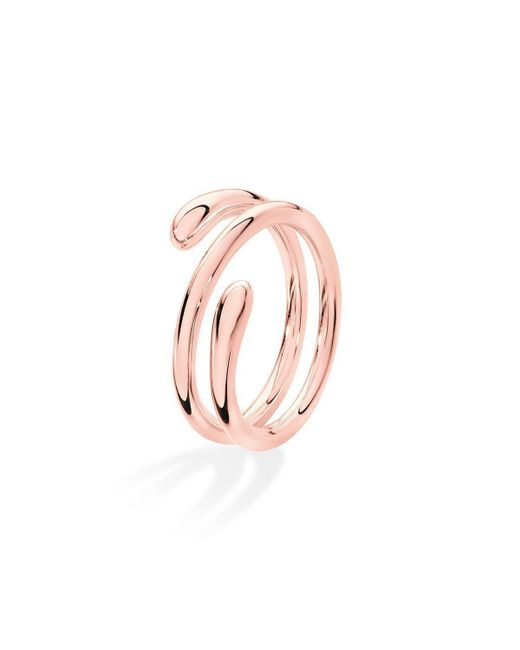 Lucy Quartermaine - Pink Coil Drop Ring Rose Gold Plated - Lyst