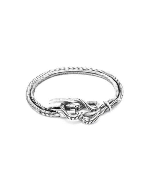 Anchor & Crew - Metallic Padstow Silver Chain Bracelet - Lyst