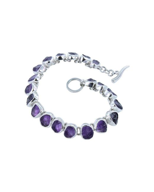 Reeves and Reeves - Multicolor Rough Stone Amethyst Bracelet - Lyst