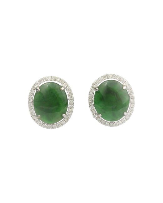 THERICHROCK - Green Tangia Jade Earrings - Lyst