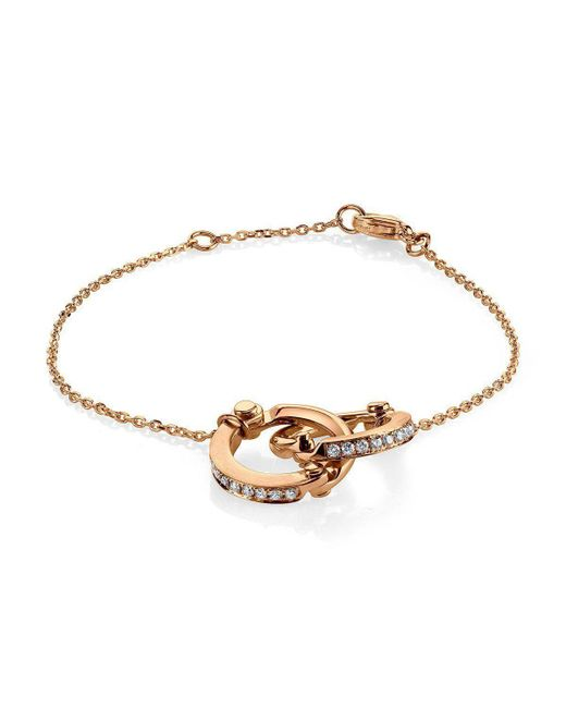 Borgioni - Metallic Handcuff Chain Bracelet In Rose Gold - Lyst