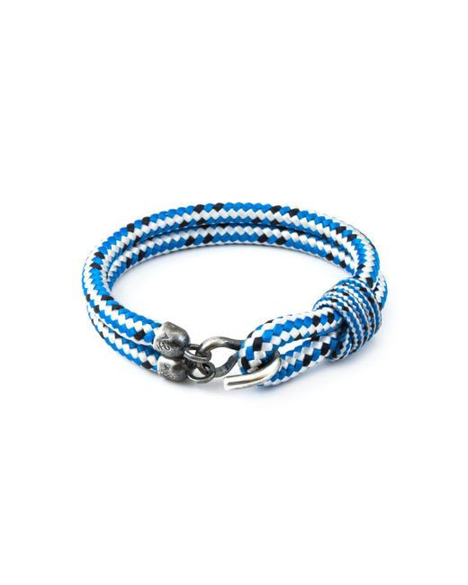 Anchor & Crew | Blue Dash Great Yarmouth Silver And Rope Bracelet for Men | Lyst
