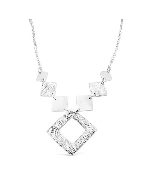 Designs by JAK | Metallic Verity Square Diamond Necklace | Lyst