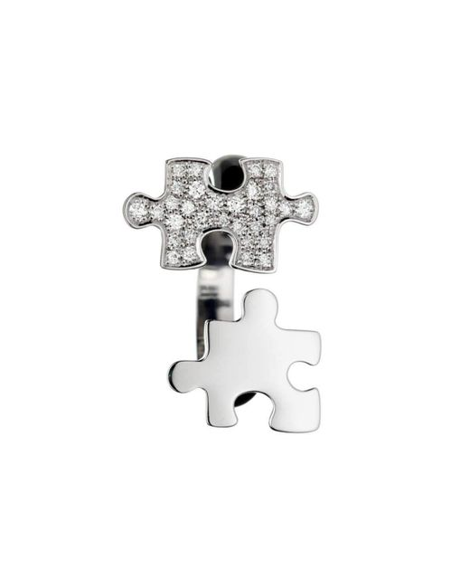 Akillis - Multicolor Puzzle Toi & Moi White Gold With Diamonds S Ring - Lyst