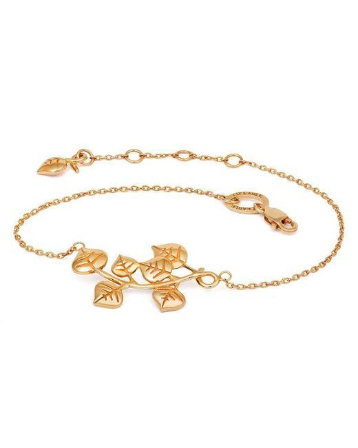 Liz Earle Fair and Fine - Metallic Eucalyptus Bracelet Gold - Lyst