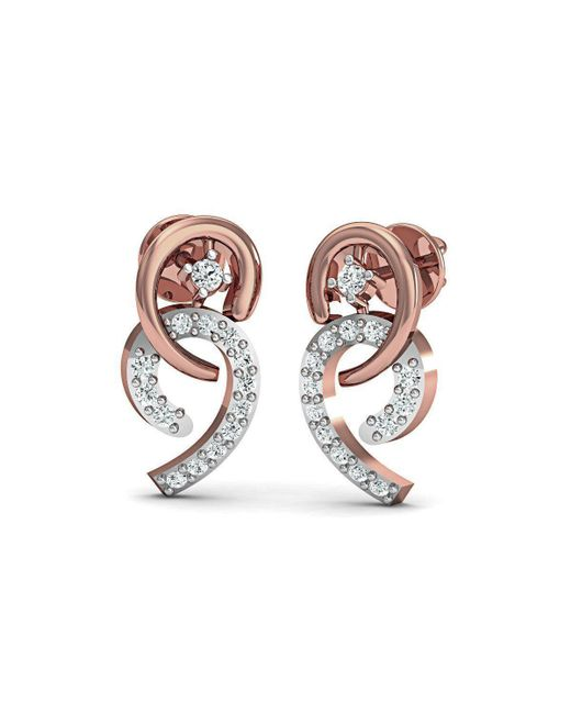 Diamoire Jewels - Metallic Frippery Diamond Earrings In 18kt Rose Gold - Lyst