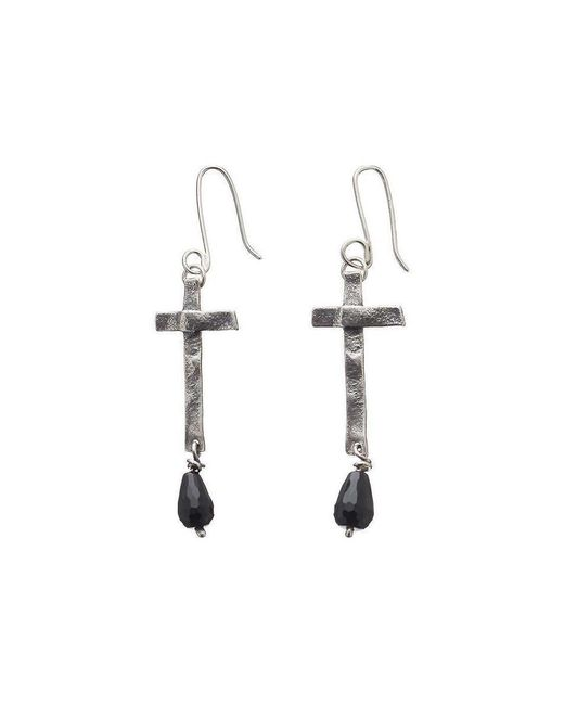 Kate Chell Jewellery - Black Treasure Oxidised Earrings - Lyst
