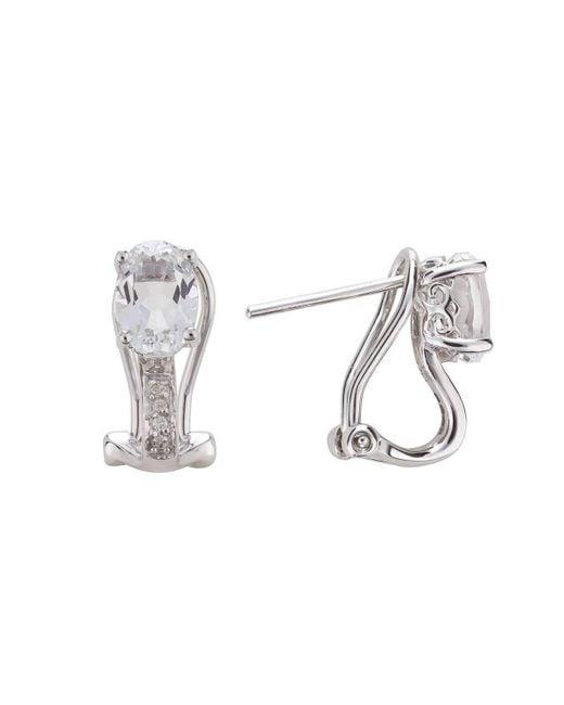 Lali Jewels - 14kt White Topaz Earring - April Birthstone - Lyst