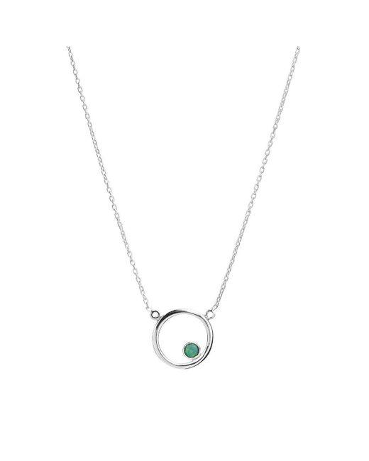 ICHU - Metallic Open Circle Opal Necklace - Lyst