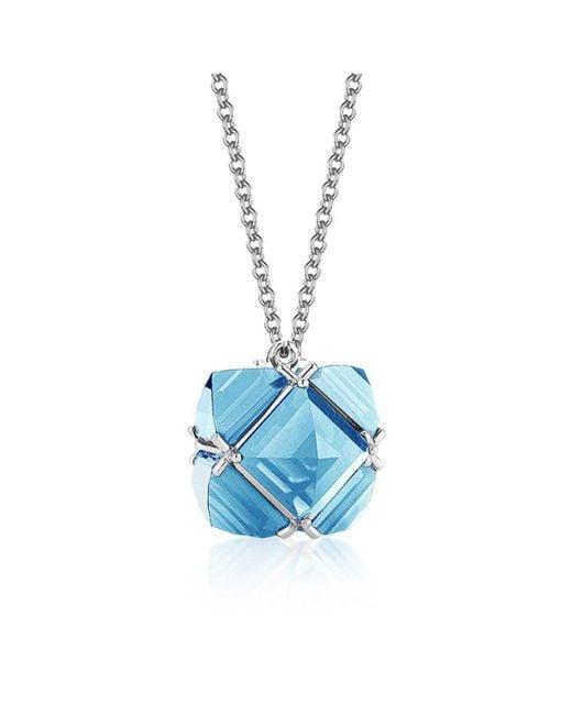 Paolo Costagli New York - Blue Topaz 'very Pc' Pendant Necklace, Petite - Lyst