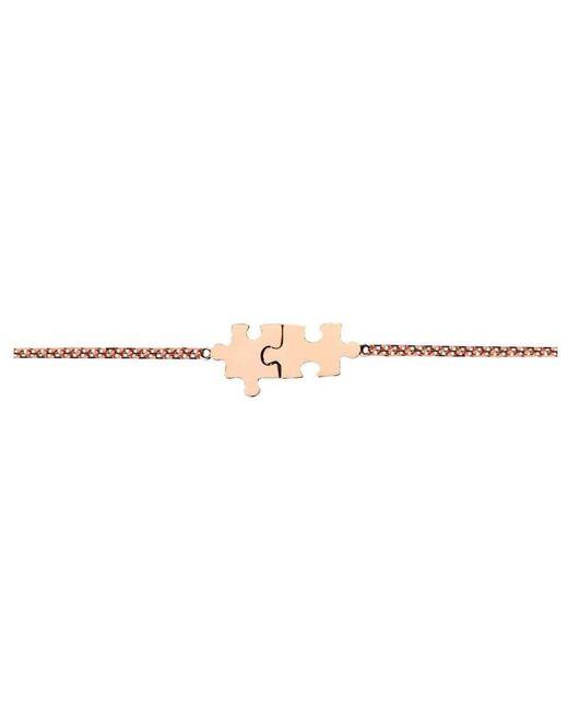 Akillis Mini Puzzle Pink Gold Duo Bracelet With Diamonds 7Dy9k