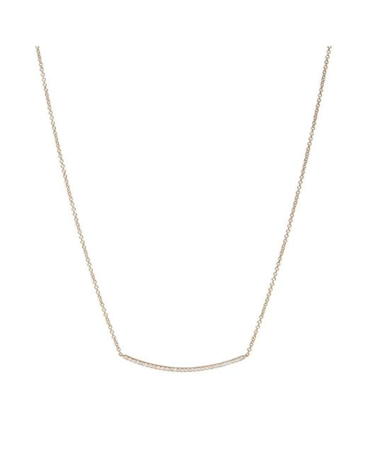 Verifine London - Multicolor Diamond Bar Necklace In Yellow Gold - Lyst