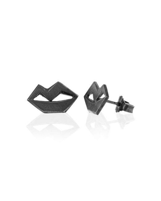 Ilda Design   Multicolor Unspoken Oxidised Silver Earrings   Lyst