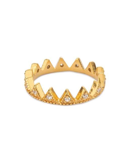 Black Betty Design - Metallic Stella's Crown Ring - Lyst