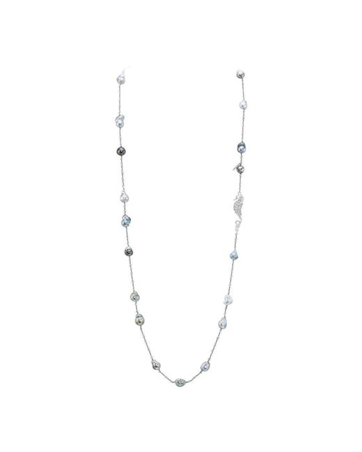 LJD Designs | Metallic Baroque Tahitian Cultured Pearl Necklace | Lyst