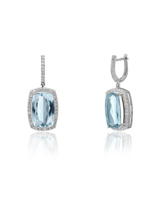 Kaizarin - Multicolor White Gold, Aquamarine & Diamond Elite Drop Earrings   - Lyst
