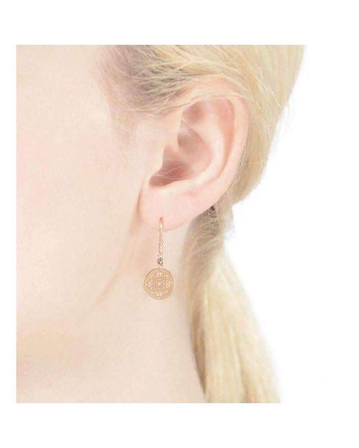 Perle de lune Art Deco Earrings 9kt Yellow Gold f3S1EUjkG2