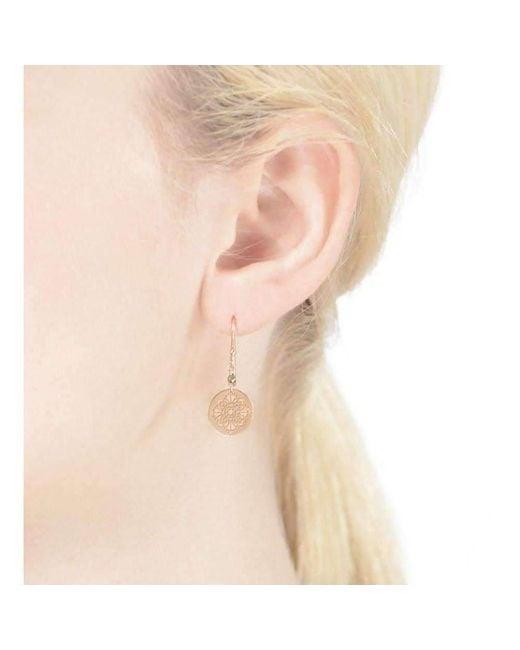Perle de lune Art deco Earrings 9kt Rose Gold 91kysXDBg