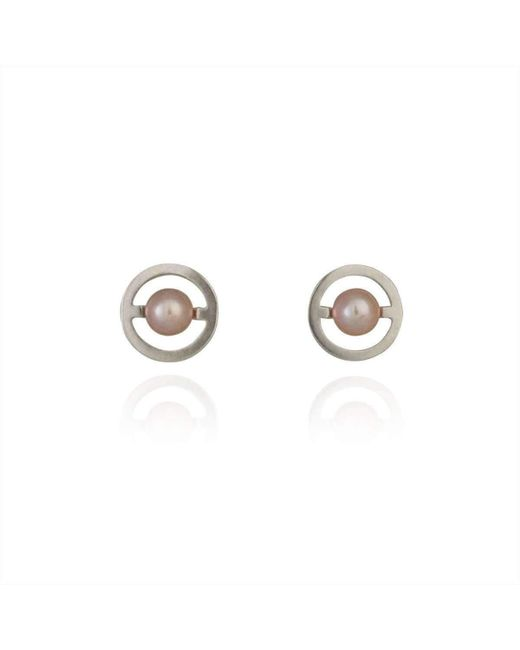 Cara Tonkin - Metallic Silver Orbit Saturn Stud Earrings - Lyst