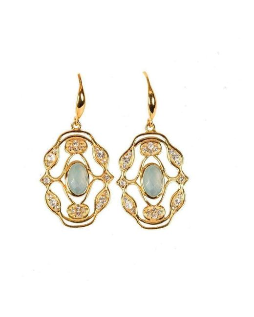 Neola - Metallic Jaipur Gold Earrings - Lyst