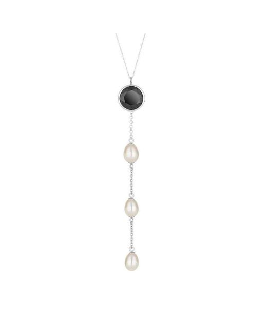 Augustine Jewels | Multicolor Spinel And Pearl Drop Necklace | Lyst