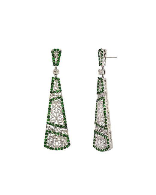 "Dallas Prince Designs - Green ""trellis Vine"" Earring With Tsavorite Garnet And Diamonds - Lyst"