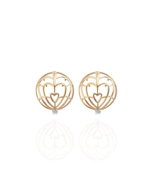 Jane North | Multicolor 18kt Yellow Gold Everlasting Love Spike Earrings | Lyst