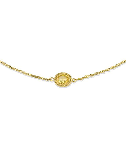 Vintouch Italy - Metallic Luccichio Citrine Choker Necklace - Lyst